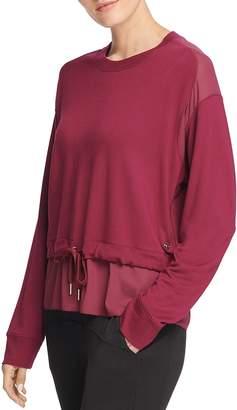 Donna Karan Mixed Media Sweatshirt