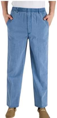 ouxiuli Men's Full Elastic Waist Lightweight Workwear Pull On Cargo Pant XL