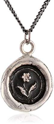 "Pyrrha talisman"" Sterling Rose Necklace"