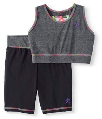 Freestyle Revolution Girls' Active Tank Top and Bike Short 2-Piece Set