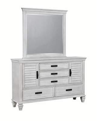 Coaster Company Franco Dresser Mirror, Antique White