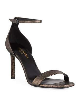 7b428b4f81e Saint Laurent Ankle Wrap Women s Sandals - ShopStyle
