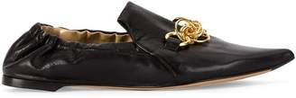 Chloé chain trim slippers