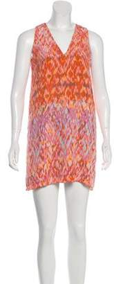 Hunter Dixon Printed Silk Dress