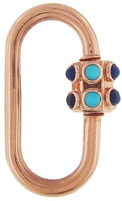 Lapis Marla Aaron Medium Stoned and Turquoise Lock - Rose Gold
