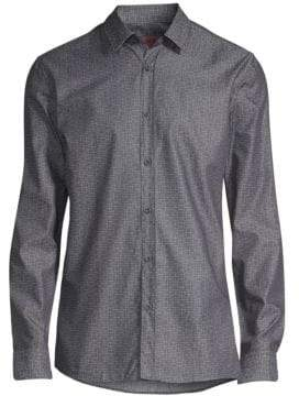 HUGO Extra Slim-Fit Elisha Geometric-Print Woven Shirt