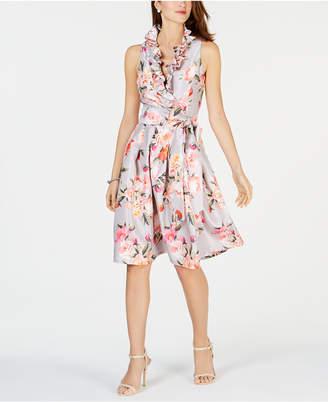 ea8064eb2b8 Jessica Howard Petite Ruffled Fit   Flare Dress