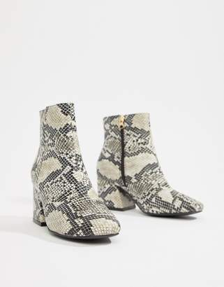 Asos DESIGN Roma ankle boots in snake