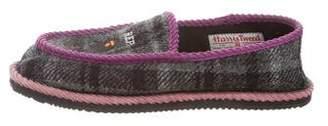 BAPE Plaid Print Wool Slippers