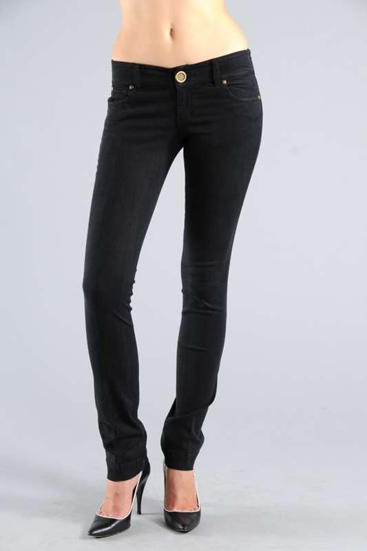 Level 99 Chloe S Straight Leg Jeans in Black