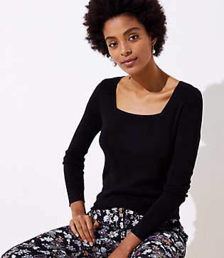 LOFT Square Neck Sweater