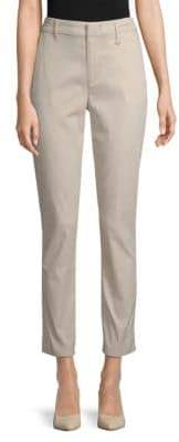 Donna Karan Straight Leg Ankle-Length Pants