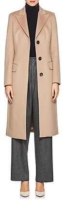 Xo Barneys Colombo Women's Cashmere Melton Three-Button Coat - Camel