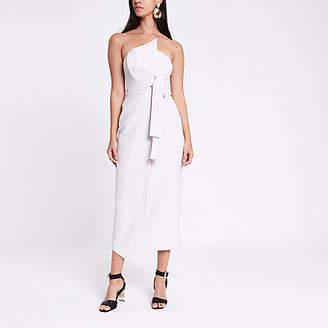 River Island Grey bandeau bodycon maxi dress
