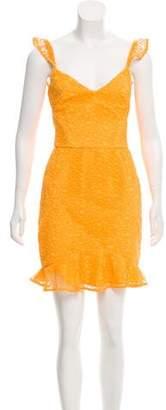 Rebecca Vallance Mini A-Line Lace Dress