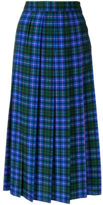 MSGM tartan midi skirt