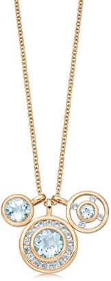 Kiki McDonough Forget Me Not 18k Gold & Triple Blue Topaz Necklace