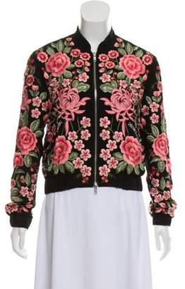 Needle & Thread Embellished Bomber Jacket