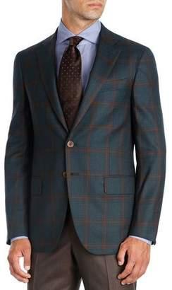 Isaia Plaid Super 140s Wool Sport Coat
