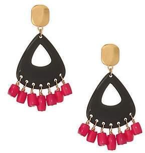 Nest Women's Coral & Horn Drop Earrings