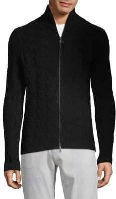 HUGO BOSS Naik Wool & Cashmere Zip-Up Sweater