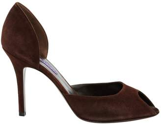 Ralph Lauren Brown Suede Heels