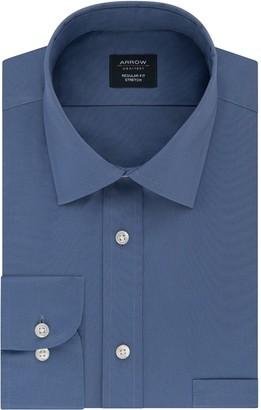 Arrow Big & Tall Regular-Fit Stretch Spread-Collar Dress Shirt