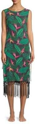Dolce Vita Tropical Fringe Sheath Dress
