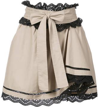 Marissa Webb embroidered trim skirt