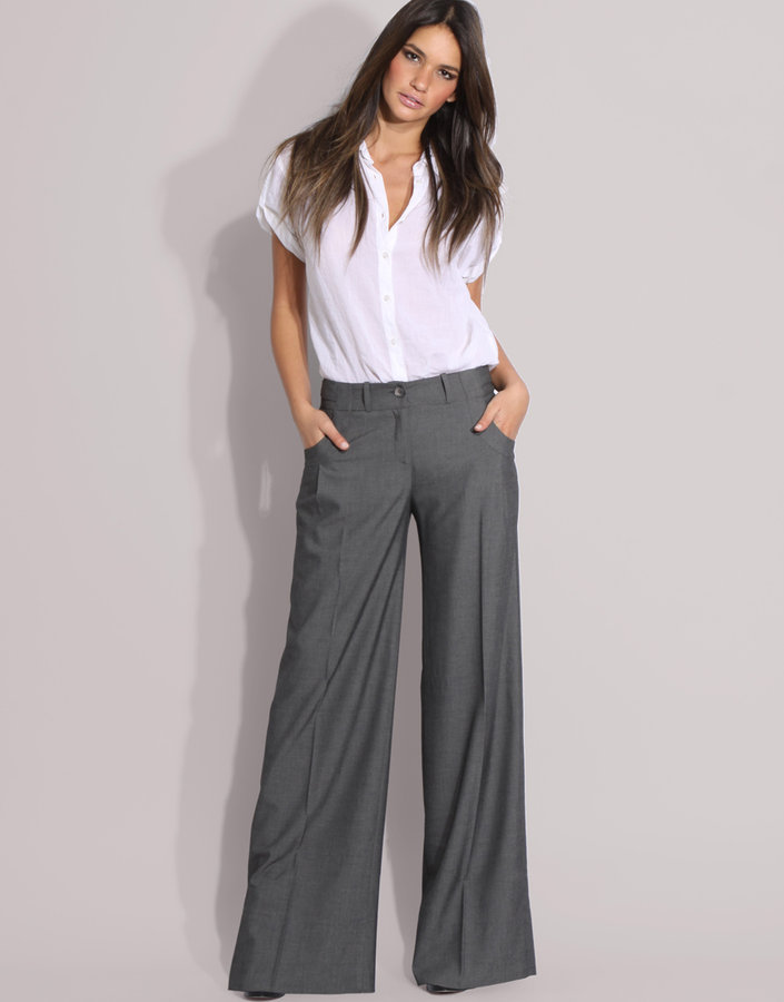 ASOS Tab Side Wide Leg Trousers