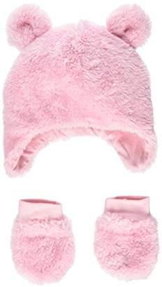 Mothercare Fluffy Trapper Hat and Mittens,(Manufacturer Size:1)