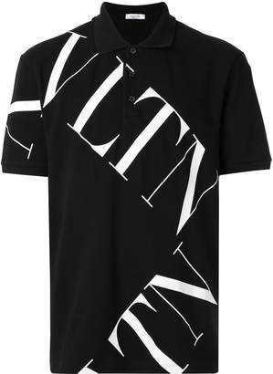 Valentino logo print polo shirt