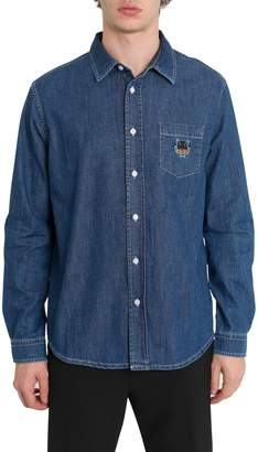 Kenzo Tiger Embroidered Denim Shirt