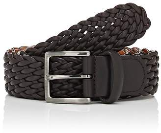 Barneys New York Men's Braided Leather Belt
