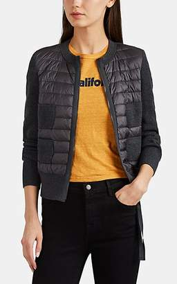 Moncler Women's Down-Quilted & Virgin Wool Sweater - Gray