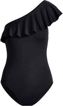 Ralph Lauren Ruffled One-Shoulder One-Piece