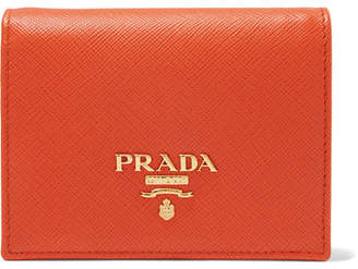 Prada Textured-leather Wallet - Orange