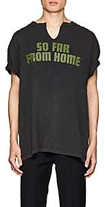"""Off-White c/o Art Dad Men's """"So Far From Home"""" Cotton T-Shirt - Black"""