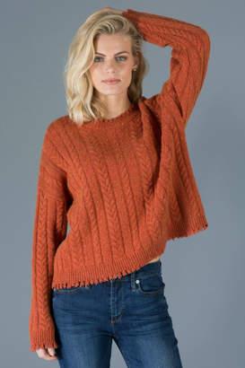 Elliott Lauren Cable Fringe Sweater