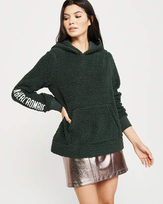 Abercrombie & Fitch Sherpa Logo Hoodie