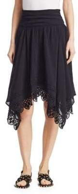 Etoile Isabel Marant Rodney Asymmetric Cotton Lace Skirt