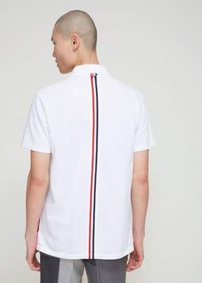 Thom Browne Relaxed Fit Classic Pique Polo