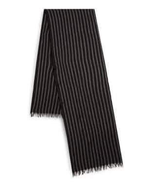 John Varvatos Frayed Wool Scarf