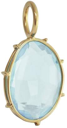 Heather B Moore Sky Blue Topaz Charm - Yellow Gold