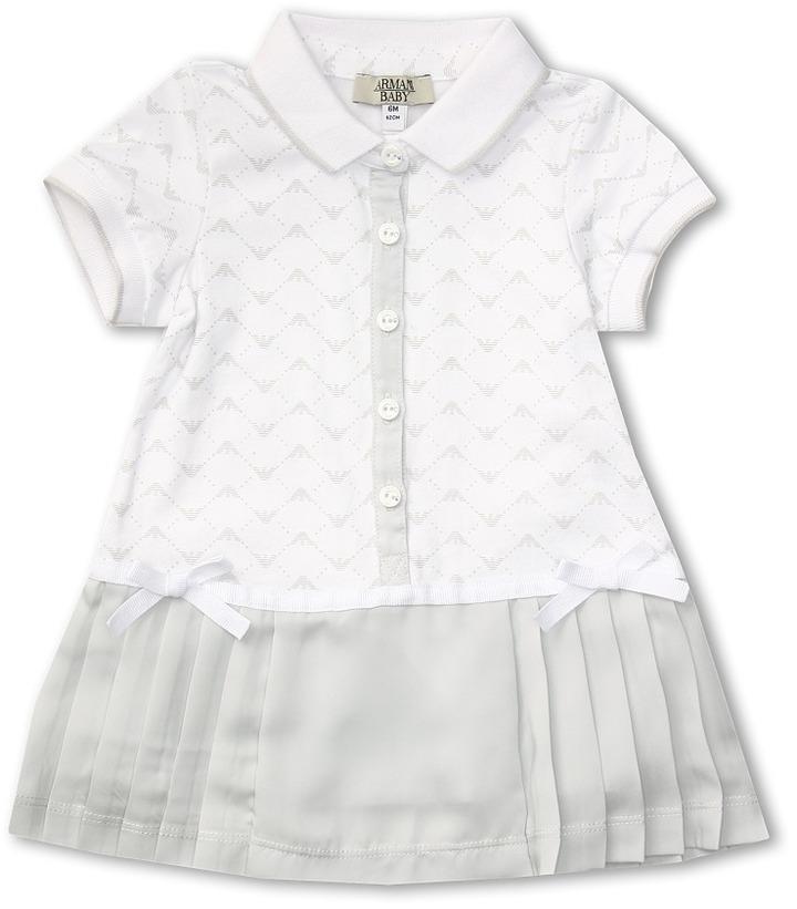 Armani Junior Dress (Infant) (White) - Apparel