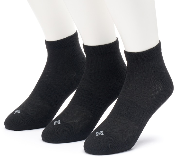 Men's Columbia 3-pack Flat-Knit Quarter Socks