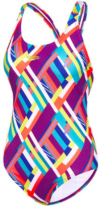Speedo Womens Coral Reef Leaderback One-Piece Swimsuit
