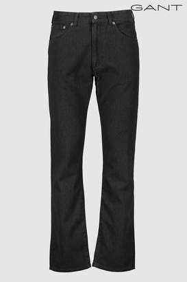 Next Mens GANT Charcoal Regular Soft Twill Jean