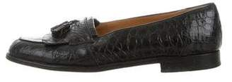 Mezlan Crocodile Tasseled Loafers