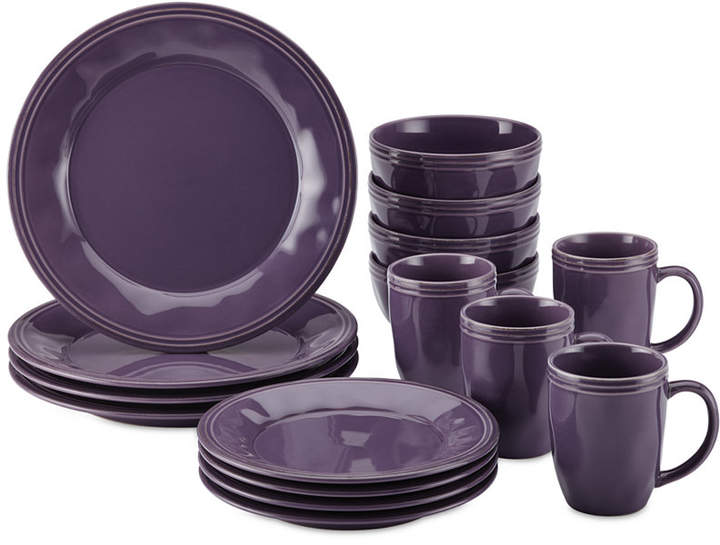 Rachael Ray Cucina Lavender Purple 16-Pc. Set, Service for 4